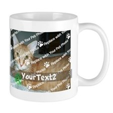 CUSTOMIZE Add 2 Photos 2 Texts Small Mug
