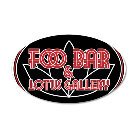 Foo Bar and Lotus Gallery Oval Wall Decal