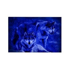 Winter Wolves Rectangle Magnet