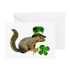 Leprechaun Squirrel Greeting Cards (Pk of 20)