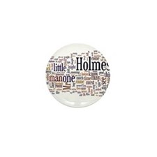 Sherlock Holmes Word Cloud Mini Button