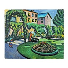 August Macke - Gartenbild Throw Blanket