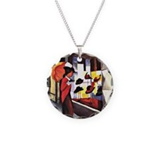 August Macke - The Hat Shop Necklace Circle Charm