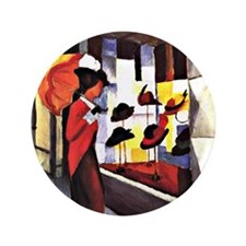 "August Macke - The Hat Shop 3.5"" Button"