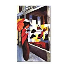 August Macke - The Hat Shop Rectangle Car Magnet