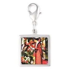 August Macke - Walk in Flower Silver Square Charm