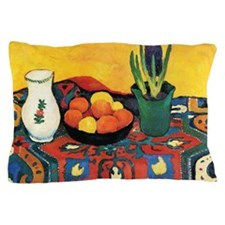 August Macke - Still Life, Hyacinths,  Pillow Case