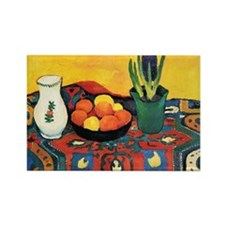 August Macke - Still Life, Hyacin Rectangle Magnet