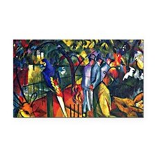 August Macke - Zoological Gar Rectangle Car Magnet