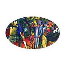 August Macke - Zoological Garden Oval Car Magnet