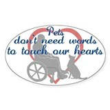 Pets Touch Heart Decal
