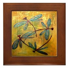 Dragonfly Haze Framed Tile