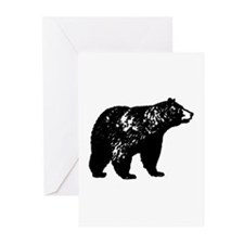 Black Bear Greeting Cards