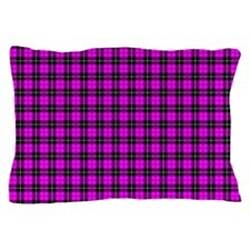 Pink Plaid Pillow Case