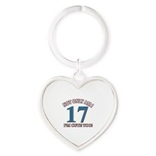 Cute 17 year old designs Heart Keychain