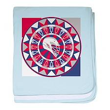 Lacrosse Shakey Dartboard baby blanket