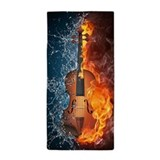 Fire and water violin Beach Towels