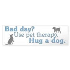 Pet Therapy Bumper Sticker