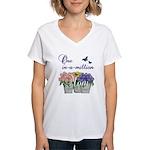 One in a Million Mom Women's V-Neck T-Shirt