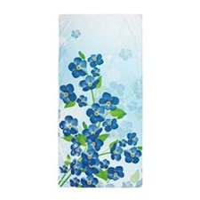 Forget Me Not Flowers Beach Towel