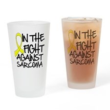 In the Fight Against Sarcoma Drinking Glass