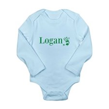 Green Logan Name Body Suit