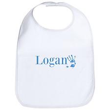 Blue Logan Name Bib