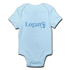 Blue Logan Name Body Suit