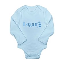 Blue Logan Name Body Suit