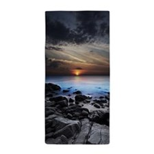 Dark Seaview Beach Towel
