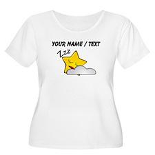 Custom Sleeping Star Cartoon Plus Size T-Shirt