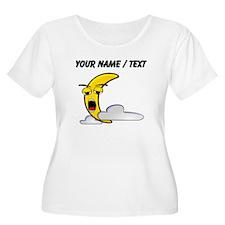Custom Sleepy Moon Cartoon Plus Size T-Shirt