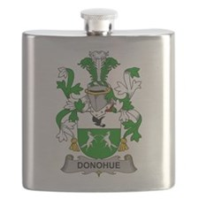 Donohue Family Crest Flask
