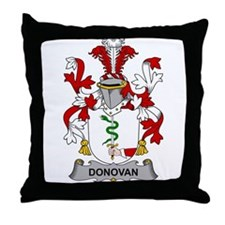 Donovan Family Crest Throw Pillow