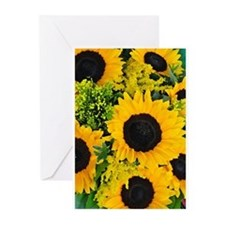 Yellow painted sunflowers Greeting Cards