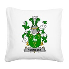 Hennessy Family Crest Square Canvas Pillow