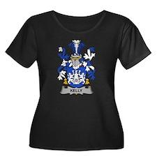 Kelly Family Crest Plus Size T-Shirt