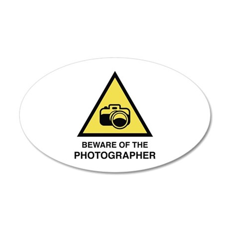 Beware Of The Photographer 38.5 x 24.5 Oval Wall P