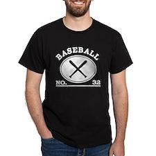 Baseball Player Custom Number 32 T-Shirt