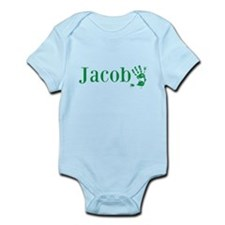 Green Jacob Name Body Suit