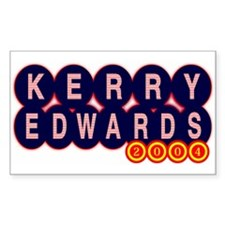 Kerry Edwards 2004 Sticker (Rect.)