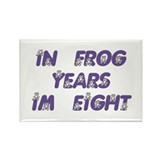 8 Frog Years, 60th Rectangle Magnet (10 pack)