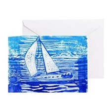 Breezy Sail Greeting Card
