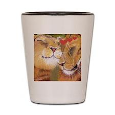 Lion Valentine Shot Glass