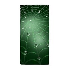 Green Cobweb Beach Towel