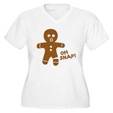 Oh Snap Gingerbread Plus Size T-Shirt