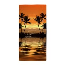 Tropical Seascape Beach Towel