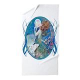 Art deco towels Beach Towels
