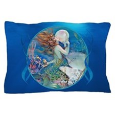 Clive Erotic Pearl Mermaid Faces Right Pillow Case