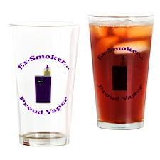 Ex-Smoker Proud Vaper Drinking Glass